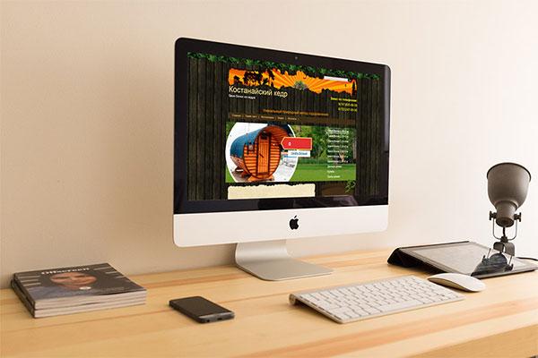 Разработка сайта каталога Бани Бочки в Костанае
