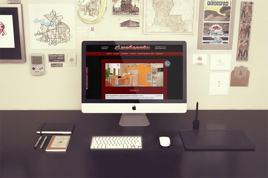 Разработка сайта Мебелайн