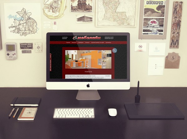 Разработка сайта мебельной фабрики Мебелайн